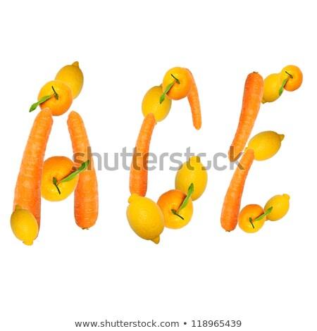 Symbole ace été boire fruits citron Photo stock © Pasiphae