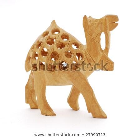 Cavalo camelo estatueta ferro montanhas metal Foto stock © kyolshin