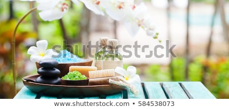 Foto stock: Spa Still Life With Aromatic Candles