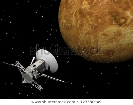 Magellan spacecraft near Venus planet - 3D render stock photo © Elenarts
