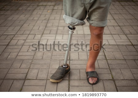 metal invalid stand Stock photo © shutswis