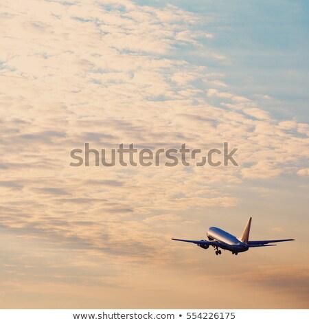 утра · свет · небе · синий · Восход - Сток-фото © anna_om