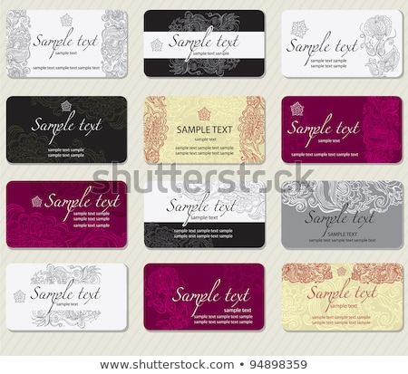 victorian business cards set stock photo © obradart