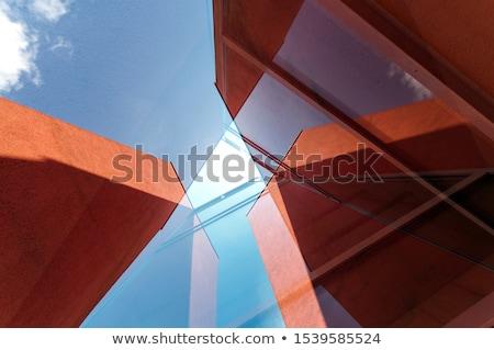 Abstrakten Architektur Design Modell besitzen Stock foto © ixstudio
