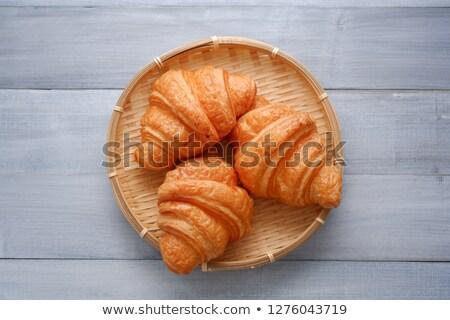 Fresco saboroso croissant branco ensolarado luz Foto stock © Discovod