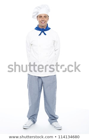 casual full length portrait of male chef stock photo © stockyimages