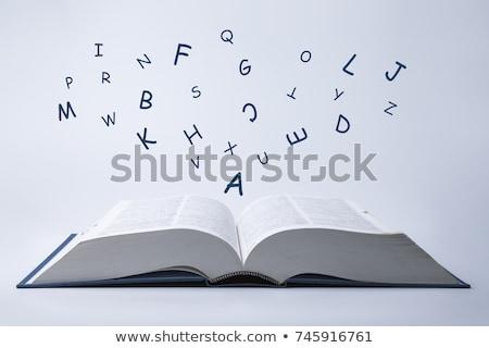 言葉 · を読む · 辞書 · 紙 · 図書 · 印刷 - ストックフォト © iofoto