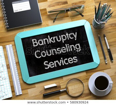 Bankruptcy Consulting Chalk Illustration Stock photo © kbuntu