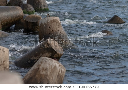 Beton Balti-tenger csatorna vakond város nyár Stock fotó © Aikon
