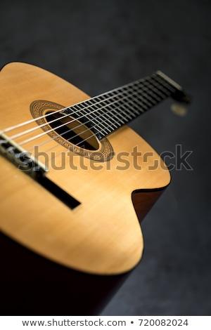 Jazz classic guitar macro detail Stock photo © lunamarina