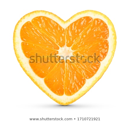 Naranja corazón floral aislado símbolo médicos Foto stock © vavlt