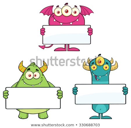 Monster Holding  A Sign Stock photo © Lightsource
