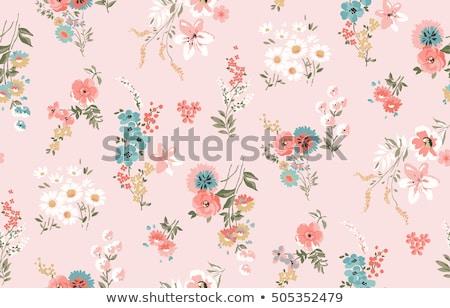 かわいい · 行 · 花柄 · テクスチャ · 背景 · ファブリック - ストックフォト © mcherevan
