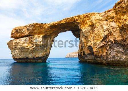 Malta paisagem rochas mar Foto stock © stokkete