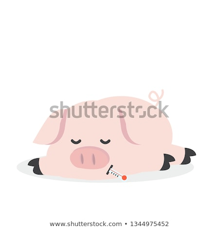 Cartoon Swine Flu Pig Stock photo © fizzgig