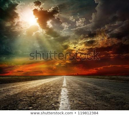 estrada · montanha · azul · viajar - foto stock © TanArt