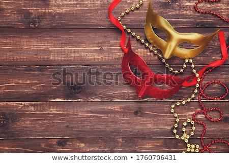 Piros gyöngyök portré vonzó gyönyörű fiatal Stock fotó © dash