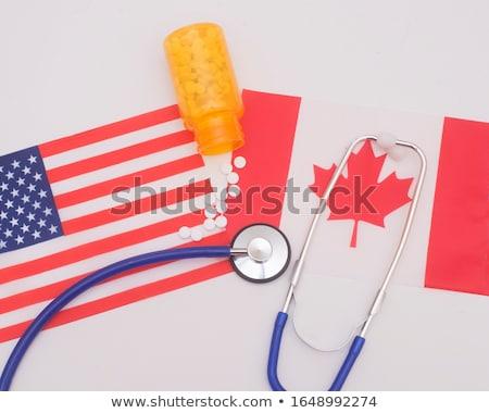 Medicine pills and canadian dollar Stock photo © devon