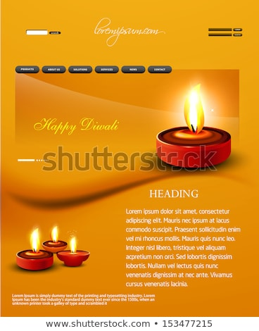Deepawali diwali diya website template  presentation collection  Stock photo © bharat