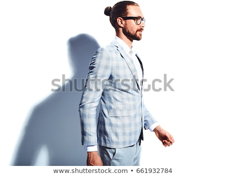 knappe · man · permanente · handen · knap · volwassen · man - stockfoto © stockyimages