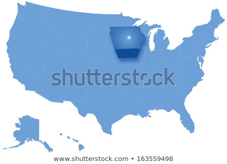 Map of States of the United States where Iowa is pulled out Stock photo © Istanbul2009