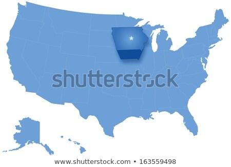 Harita Amerika Birleşik Devletleri Iowa dışarı siyasi tüm Stok fotoğraf © Istanbul2009