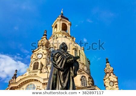 szobor · Drezda · híres · barokk · király · égbolt - stock fotó © w20er