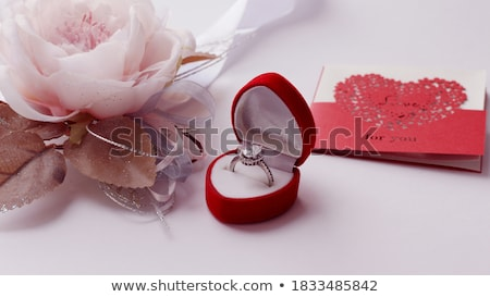 postcard on Valentine's day with the heart of a precious stone Stock photo © yurkina