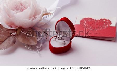 Kartpostal sevgililer günü kalp değerli taş örnek Stok fotoğraf © yurkina