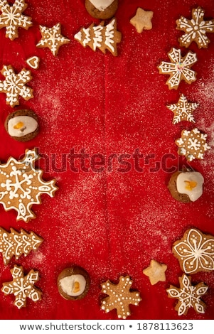 Muffin with icing sugar star in red form Stock photo © Elmiko