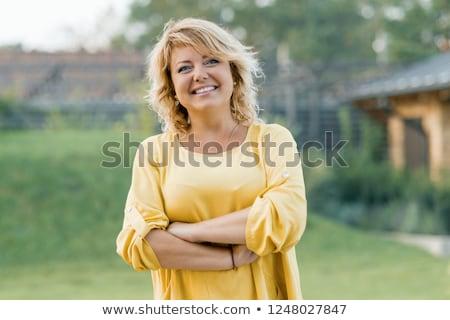 femme · belle · femme · printemps · blanche - photo stock © zdenkam