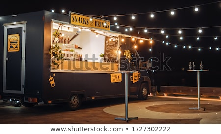 hamburger in the dark night stock photo © jonnysek