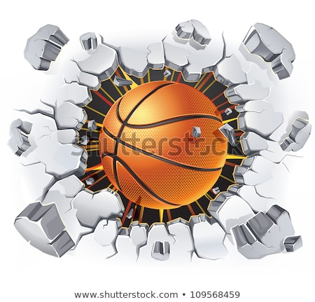 Basketball ball and cracked wall. Stock photo © timurock