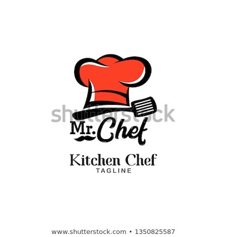 Logo fastfood restaurant business huis voedsel home Stockfoto © shawlinmohd