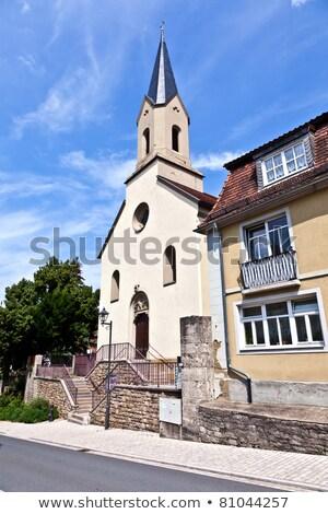 исторический · кладбище · средневековых · город · свет · крест - Сток-фото © meinzahn