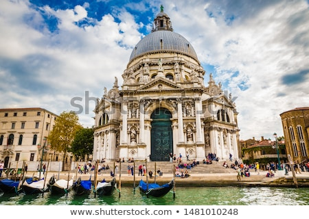 Basílica água casa nuvens cidade Foto stock © vwalakte