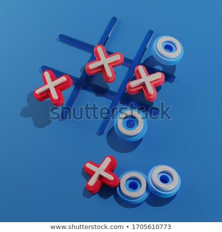 marca · vermelho · quebra-cabeça · branco · veja · estilo - foto stock © tashatuvango