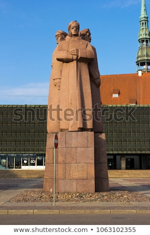 Latvian Riflemen Monument in Riga Stock photo © chrisdorney