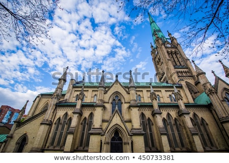 Iglesia Toronto central color arquitectura torre Foto stock © vichie81