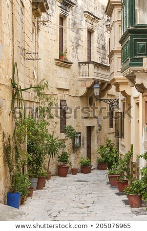 cobbled street in valetta old town malta stock photo © travelphotography