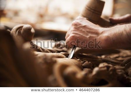 Gouge wood chisel carpenter tool. Work Of Artist. Stock photo © EwaStudio