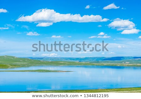 железная дорога Blue Sky облака белый металл зеленый Сток-фото © my-photomir