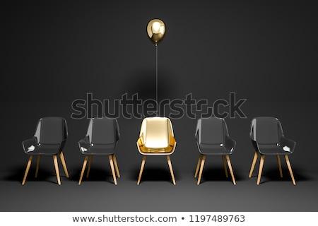 Rood · potlood · leider · oranje · ruimte · groep - stockfoto © unikpix