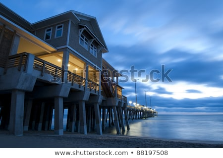 Pier hoofd North Carolina USA hemel water Stockfoto © alex_grichenko