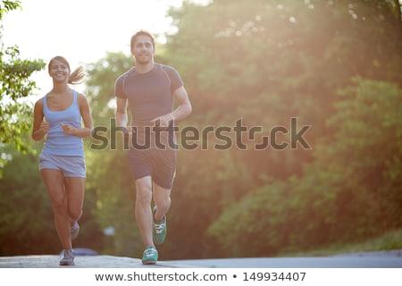 deux · jeunes · fitness · filles · extérieur · activité - photo stock © brunoweltmann