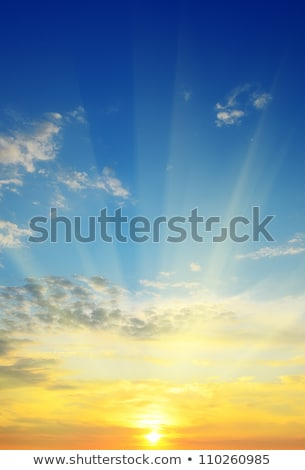 the sun rays illuminate the sky above the horizon Stock photo © alinamd