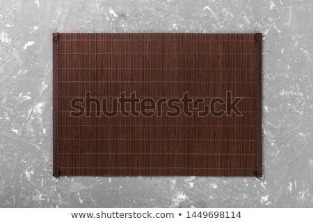 bambu · tablo · kahverengi · plaj · ada · ev - stok fotoğraf © homydesign