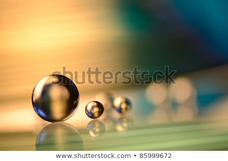 Blue Water Droplets abstract background - big and small drops  Stock photo © Taiga