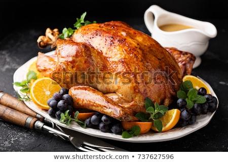 pörkölt · tyúk · mikró · étel · vacsora · szakács - stock fotó © ssuaphoto