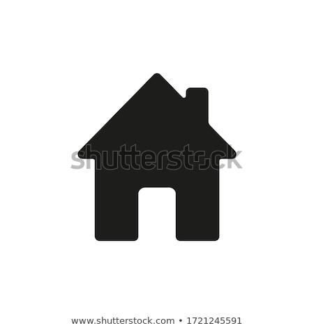 Vektör ev ikon simge yerleşim inşaat Stok fotoğraf © thanawong